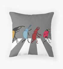 The Beetles Throw Pillow