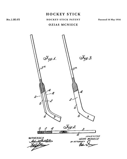 Hockey stick patent drawing blueprint posters by vintago redbubble hockey stick patent drawing blueprint by vintago malvernweather Images