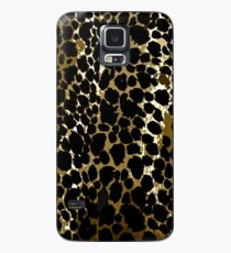 Animal Print Cheetah Black and Brown Case/Skin for Samsung Galaxy
