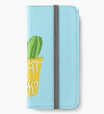 what the fork? cactus (The Good Place) iPhone Wallet/Case/Skin