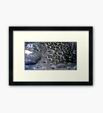 Liquid Platinum Framed Print