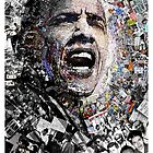 """""""I Am Not A Perfect Man"""", Obama Civil Rights and Protest Collage by O O"""