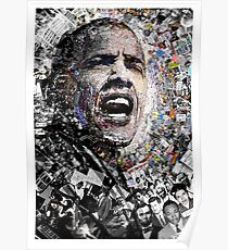 """I Am Not A Perfect Man"", Obama Civil Rights and Protest Collage Poster"