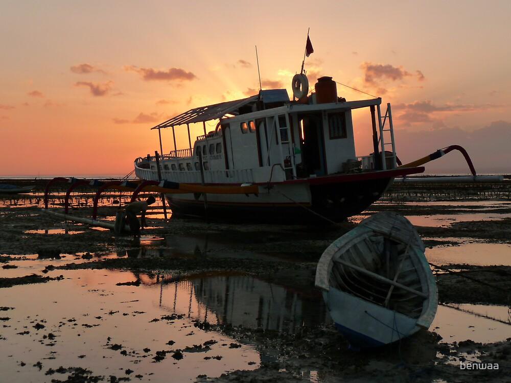 Low Tide on Nusa Lembongan by benwaa