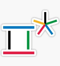 2018 Olympic Rings Sticker