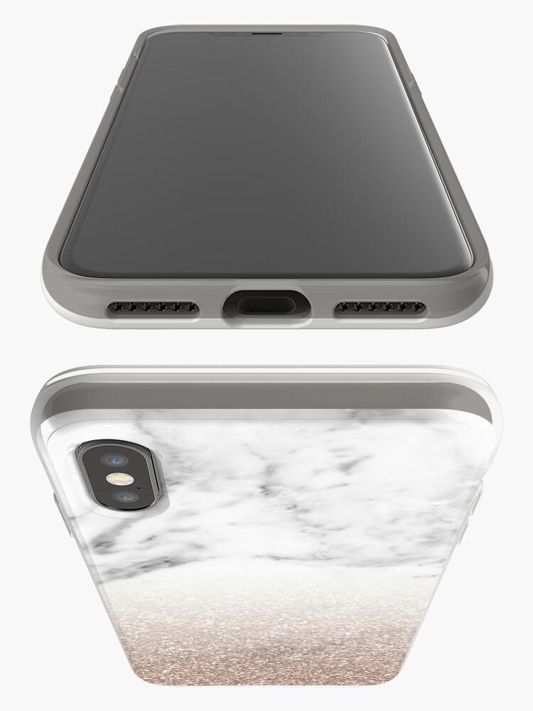 Alternative Ansicht von Rose Gold Glitter auf Marmor iPhone-Hülle & Cover