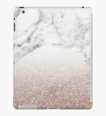 Rose Gold Glitter auf Marmor iPad-Hülle & Klebefolie