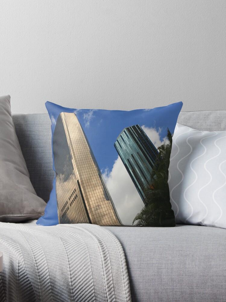 Gold and blue sky scrapers of Brisbane by David  Geerlings