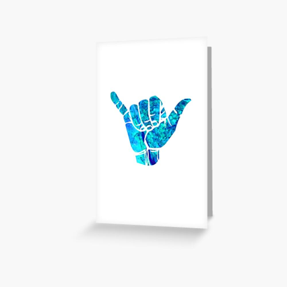 Shaka Ästhetisches Design Grußkarte
