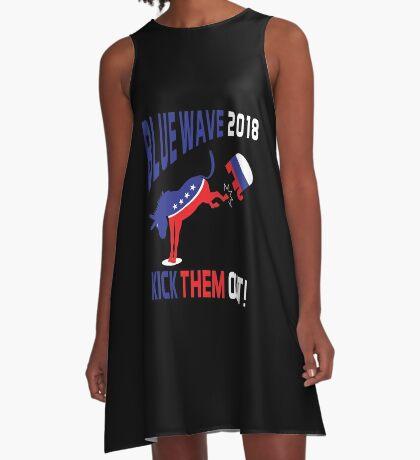 Blue Wave 2018 Kick Them Out A-Line Dress