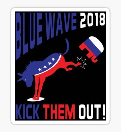 Blue Wave 2018 Kick Them Out Sticker