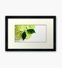 Lime Fresh Framed Print