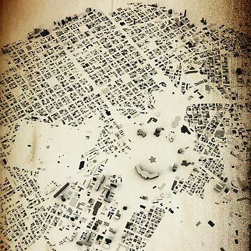 Havana Streets and Buildings Map Antic Vintage Design by FRTcreative