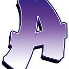 Letter A - Purple by paintcave