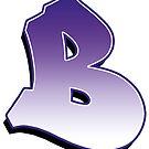 Letter B - Purple  by paintcave