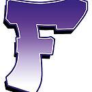 Letter F - Purple by paintcave