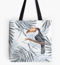 Palmblätter und Toucan Tasche