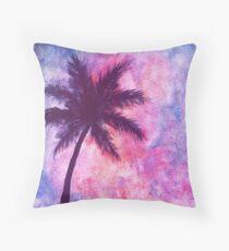 Galaxy Palmtree Throw Pillow