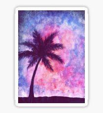 Galaxy Palmtree Sticker