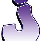 Letter J - Purple by paintcave