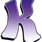 Letter K - Purple by paintcave