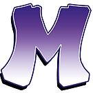 Letter M - Purple by paintcave