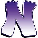 Letter N - Purple by paintcave