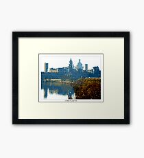 Pixel Art Cities: Mantova Framed Print