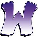 Letter W - Purple by paintcave