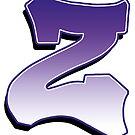 Letter Z - Purple by paintcave