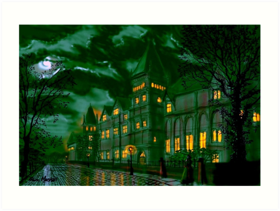 Yorkshire College by Moonlight by Glenn  Marshall