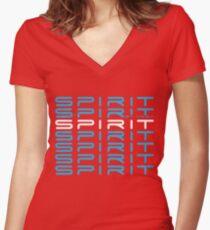 SPIRIT PLUS Women's Fitted V-Neck T-Shirt