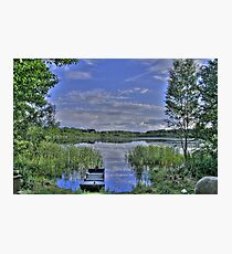 boat and lake in hdr Photographic Print
