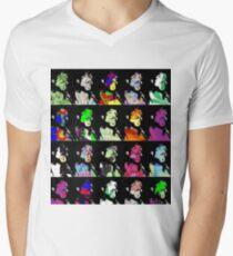 MISTERDOCTER Silhouette Face V-Neck T-Shirt