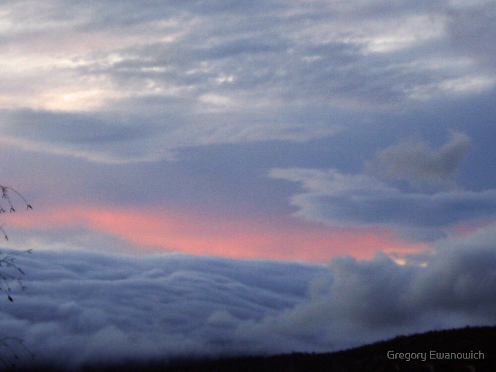 Cloudy  Sunset by Gregory Ewanowich