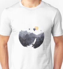 Hot Air Balloon Scene Unisex T-Shirt