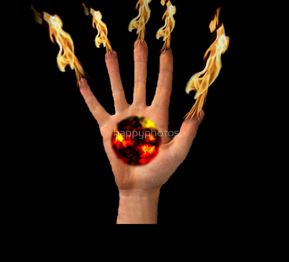 Flaming fingers by happyphotos