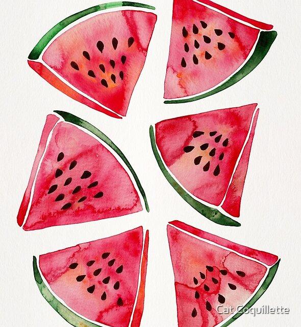 Wassermelonenscheiben von Cat Coquillette