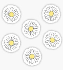 Cute Daisy Flower Pattern Sticker