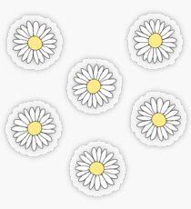 Niedliches Gänseblümchen-Blumen-Muster Transparenter Sticker