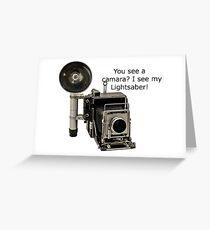 Graflex Lightsaber 2 Greeting Card
