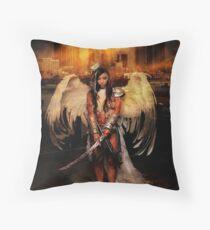 The Battle Angel Throw Pillow