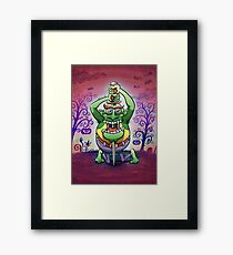 The Awkwardness of the Sword Swallower Framed Print