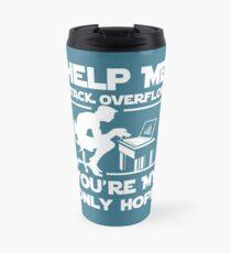 Help me stack overflow Travel Mug