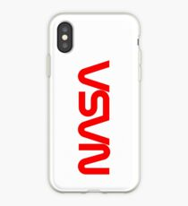 NASA Red Wurm Logo iPhone-Hülle & Cover
