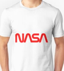 NASA Red Worm Logo Unisex T-Shirt