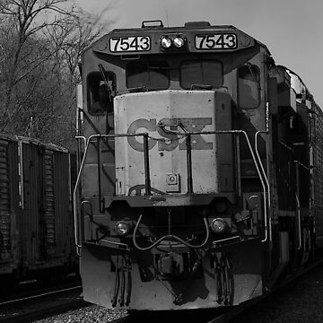 CSX in black and white by jammingene
