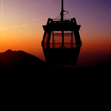 Cable Car in the Sunset by adng
