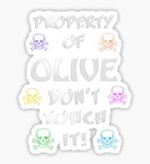 Property of Olive Sticker