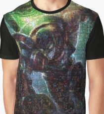 Singed Mosaic Portrait 6 Graphic T-Shirt